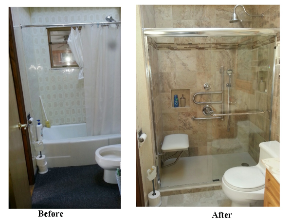 Two Rivers Bathroom Remodel Before & After