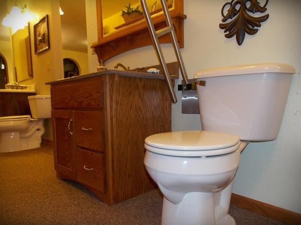 Toilet Grab Bar Fold Up Bathroom Handrail Installation Senior Bathroom Remodel Plymouth Wi