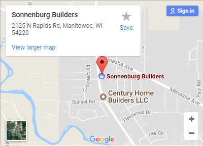 Sonnenburg Builders Manitowoc Showroom Location