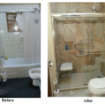 Elderly shower chair and grab bars for Sheboygan bathrooms
