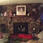 Manitowoc fireplace remodel before picture