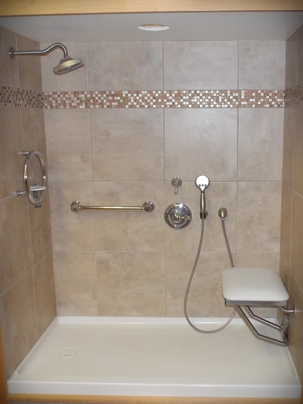 Walk in shower sonnenburg builders inc manitowoc wisconsin Small bathroom remodel for elderly