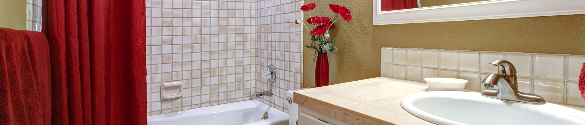 Manitowoc homeowners does bathroom remodel in red